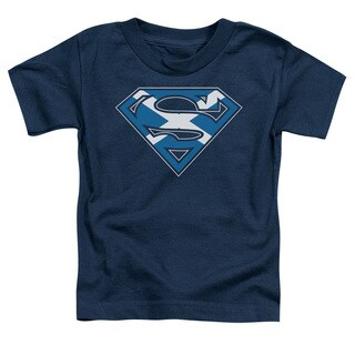 Superman/Scottish Shield Short Sleeve Toddler Tee in Navy