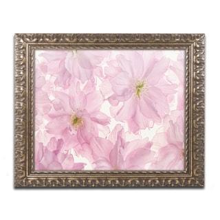 Cora Niele 'Pink Cherry Blossom' Ornate Framed Art