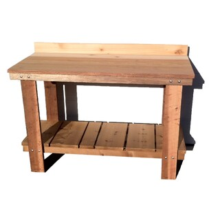 Mill Direct Red Cedar Wood Potting Table
