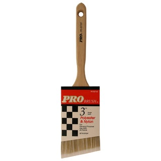 "Gam PR00765 3"" Pro Brush Angle Sash Polyester & Nylon Paint Brush"