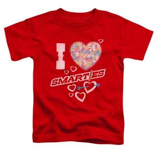 Smarties/I Heart Smarties Short Sleeve Toddler Tee in Red
