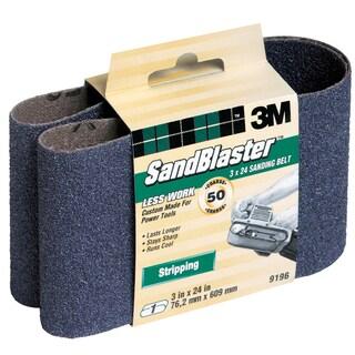 "3M 9196NA 3"" X 24"" 50 Grit SandBlaster Purple Sanding"