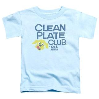 Ken L Ration/Clean Plate Short Sleeve Toddler Tee in Light Blue