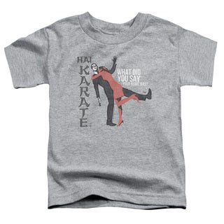 Hai Karate/Name Short Sleeve Toddler Tee in Heather