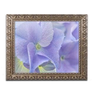 Cora Niele 'Blue Hortensia' Ornate Framed Art