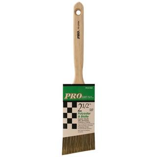 "Gam PR01984 2-1/2"" Pro Brush Angle Sash Polyester & Bristle Paint Brush"
