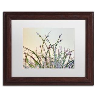 Cora Niele 'Dewy Grass' Matted Framed Art