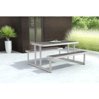 Cuomo Grey Galvanized Aluminum Picnic Table