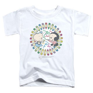 Popeye/Fun With Crayons Short Sleeve Toddler Tee in White