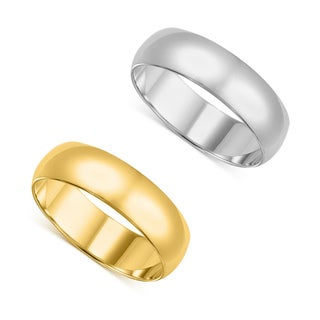 Link to 14k Yellow or White Gold Standard Fit Men and Women's 6 mm Wedding Band Similar Items in Rings
