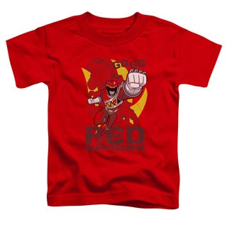 Power Rangers/Go Red Short Sleeve Toddler Tee in Red