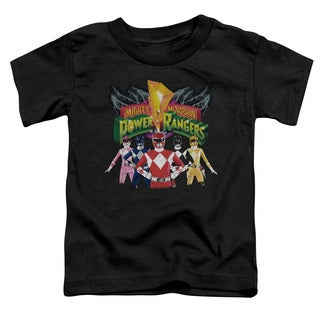 Power Rangers/Rangers Unite Short Sleeve Toddler Tee in Black