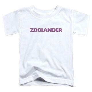 Zoolander/Logo Short Sleeve Toddler Tee in White