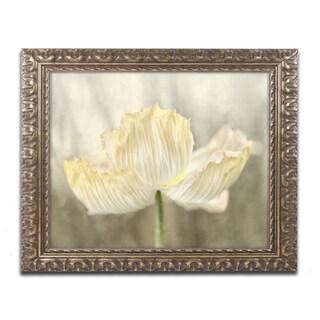 Cora Niele 'Sunshine Poppy' Ornate Framed Art