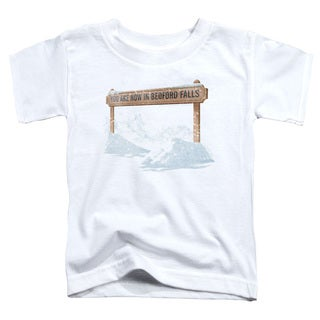 Its A Wonderful Life/Bedford Falls Short Sleeve Toddler Tee in White