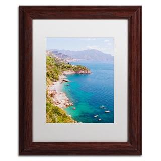 Ariane Moshayedi 'Amalfi Coast' Matted Framed Art