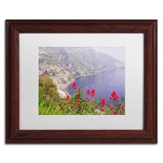 Ariane Moshayedi 'Amalfi Coast 2' Matted Framed Art