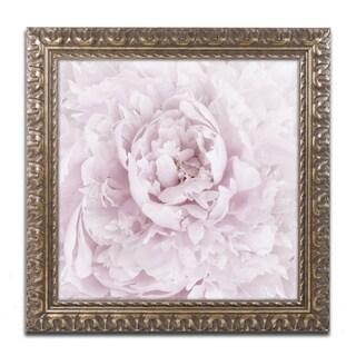 Cora Niele 'Pink Peony Flower' Ornate Framed Art