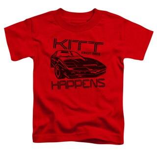 Knight Rider/Kitt Happens Short Sleeve Toddler Tee in Red