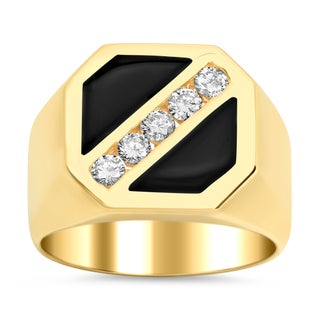 Artistry Collections 14k Yellow Gold 0.5-ct TDW Diamond Men's Ring