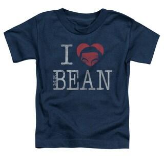 Mr Bean/I Heart Mr Bean Short Sleeve Toddler Tee in Navy