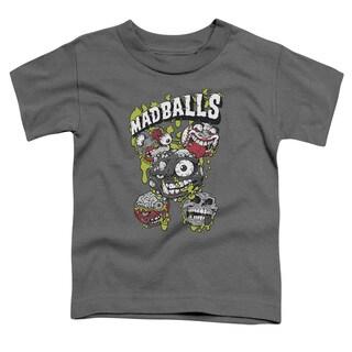 Madballs/Slime Balls Short Sleeve Toddler Tee in Charcoal