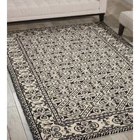 Nourison Country Heritage Black/White Area Rug