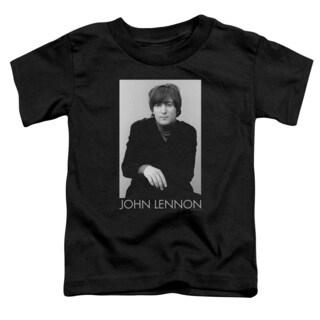 John Lennon/Ex Beatle Short Sleeve Toddler Tee in Black