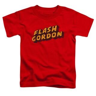 Flash Gordon/Logo Short Sleeve Toddler Tee in Red