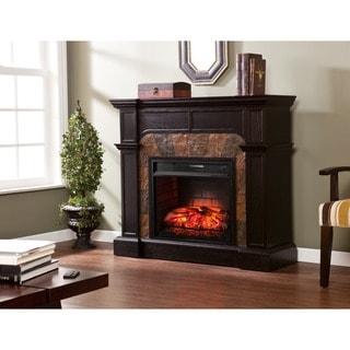 Harper Blvd Hollandale Ebony Infrared Electric Fireplace