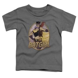 JLA/Batgirl Bombshell Short Sleeve Toddler Tee in Charcoal