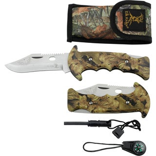 Elk Ridge Camping Knife and Survival Set
