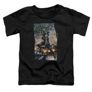 JLA/Fire and Rain Short Sleeve Toddler Tee in Black