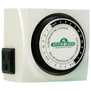 Hydrofarm TM01015D 15 Amp Dual Outlet Grounded Timer