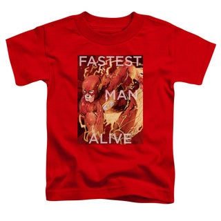 JLA/Fastest Man Alive Short Sleeve Toddler Tee in Red