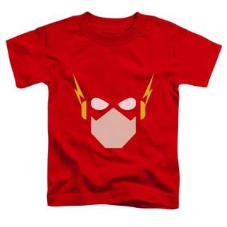 JLA/Flash Head Short Sleeve Toddler Tee in Red