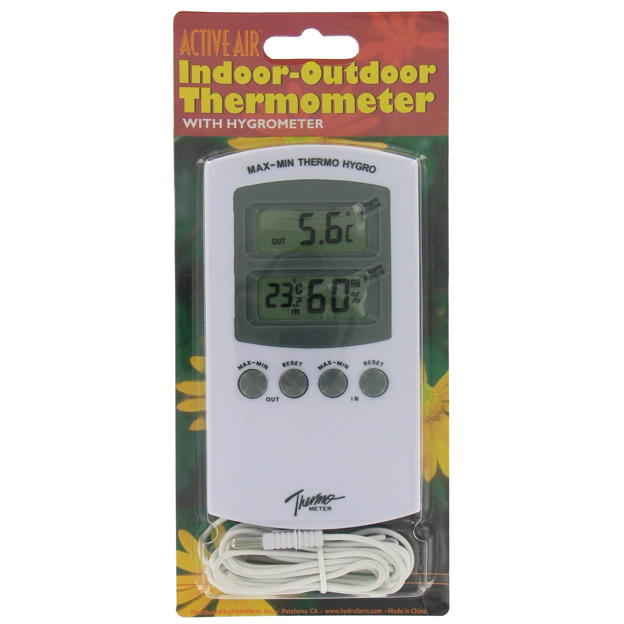 Hydrofarm Hgioht ActiveAir Indoor Outdoor Thermometer Wit...