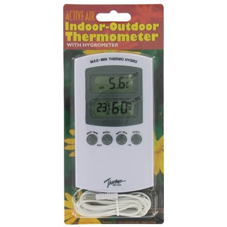 Hydrofarm HGIOHT ActiveAir Indoor Outdoor Thermometer With Hygrometer