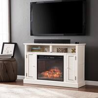 Oliver & James Lely White Infrared Electric Fireplace