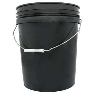 Hydrofarm HG5G 5 Gallon Black Bucket
