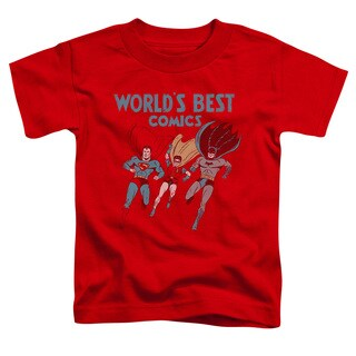 JLA/Worlds Best Short Sleeve Toddler Tee in Red
