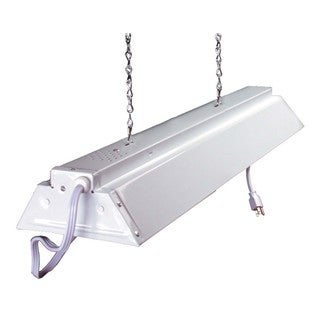 Hydrofarm FLV42 4-feet White Hanging Shop Light Fixture