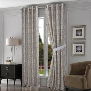 Tribeca Living Maldives Lined Cotton Grommet-top Curtain Panel Pair