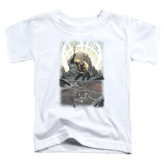 JLA/Brightest Day Aquaman Short Sleeve Toddler Tee in White