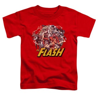 JLA/Flash Family Short Sleeve Toddler Tee in Red