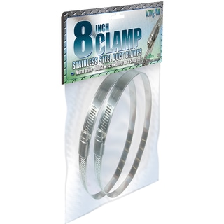 Hydrofarm ACC8 2-count 8-inch Stainless Steel Duct Clamp