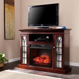 Harper Blvd Longford Espresso Media Infrared Electric Fireplace