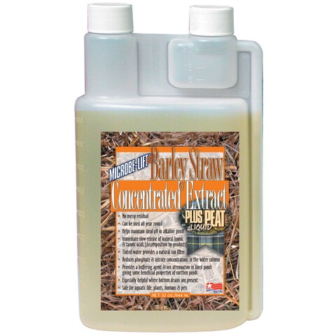 Microbe Lift BSEP32 32-ounce Barley Straw Concentrate Plus Peat Extract Concentrate