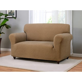 Galway Polyester/Spandex Stretch Loveseat Slipcover