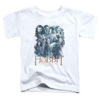 Hobbit/Main Characters Short Sleeve Toddler Tee in White